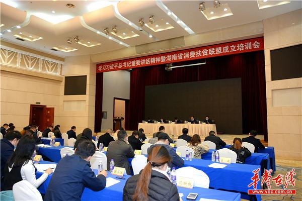 湖南成立消费扶贫联盟  华声在线等63家成员单位共助脱贫攻坚