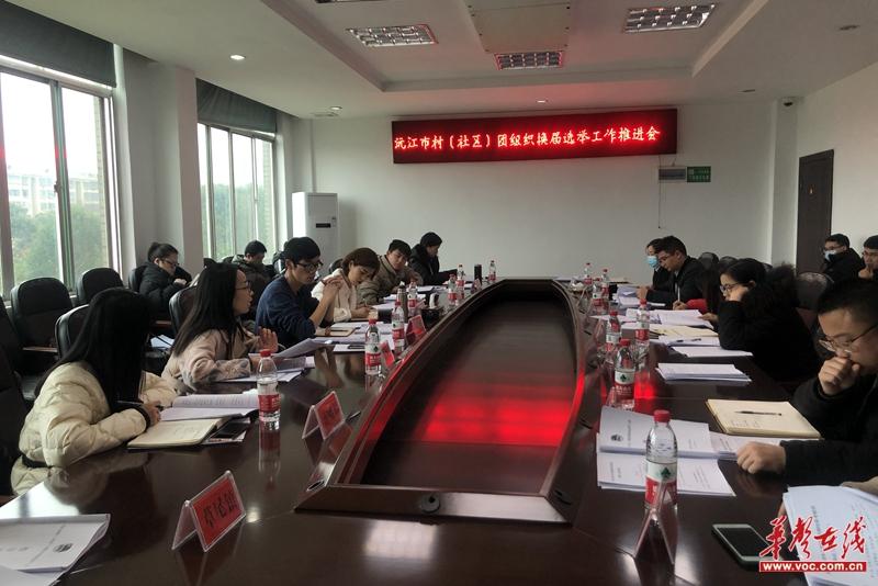 益阳|共青团沅江市委召开全市村(社区)团组织换届选举工作推进会
